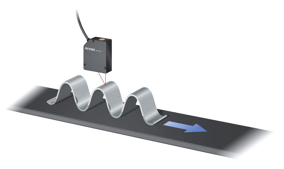 Example of a laser displacement sensor