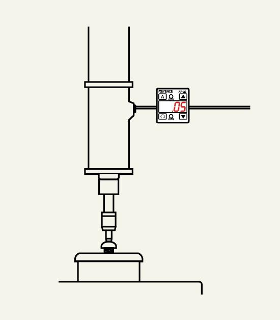 Pressure gage for mistake-proofing